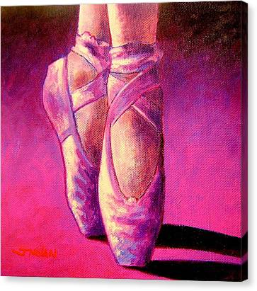 Tutu Canvas Print - Ballet Shoes  II by John  Nolan