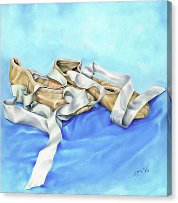 Ballet Shoes Canvas Print by Richard Mountford