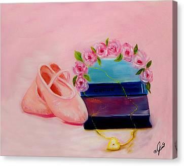 Dance Ballet Roses Canvas Print - Ballet Still Life by Joni M McPherson
