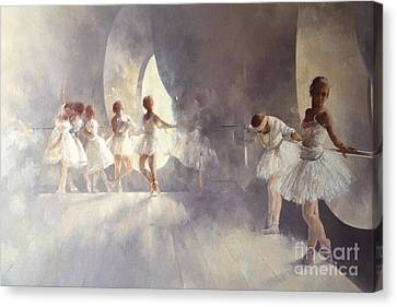 Ballet Dancers Canvas Print - Ballet Studio  by Peter Miller