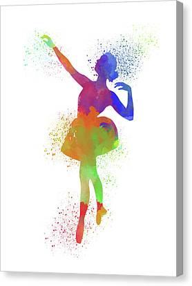 Ballet Watercolor 1 Canvas Print