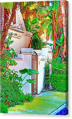 Canvas Print featuring the photograph Ballona Lagoon Gate by Chuck Staley