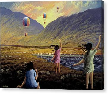 Balloon Children Canvas Print by Alan Kenny