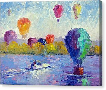 Balloon Festival  Canvas Print by Terry  Chacon