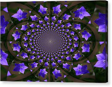 Balloon Flower Kaleidoscope Canvas Print by Teresa Mucha