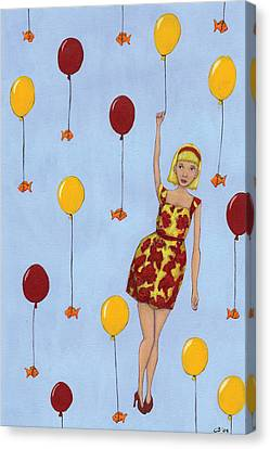 Balloon Girl Canvas Print by Christy Beckwith