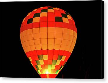 Balloon Glow 1 Canvas Print by Lone Dakota Photography