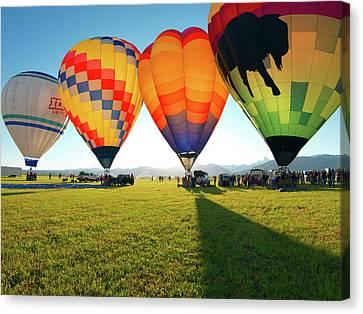 Balloon Glow Canvas Print by Leland D Howard