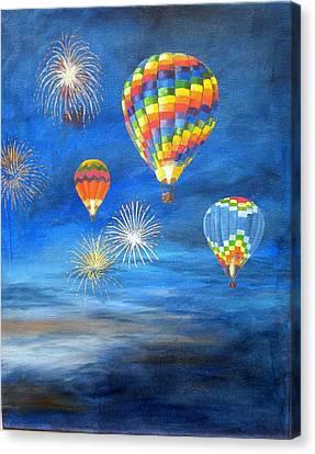 Balloon Glow Canvas Print by Marti Idlet