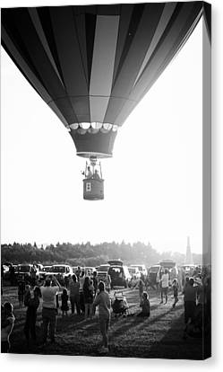 Balloon In Black And White Canvas Print by Brian Caldwell