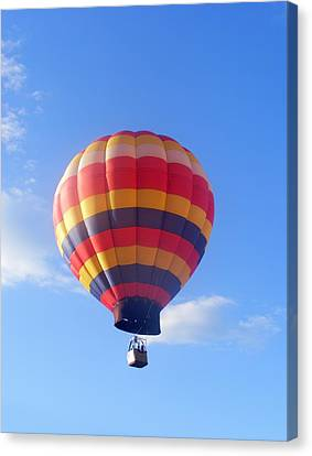 Balloon In Flight Canvas Print by Eddie Armstrong