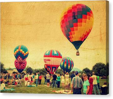 Balloon Rally Canvas Print by Kathy Jennings