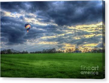Balloon Sunset Canvas Print