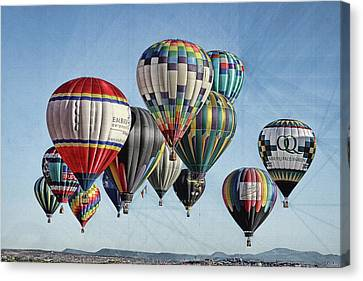 Canvas Print featuring the photograph Ballooning by Marie Leslie