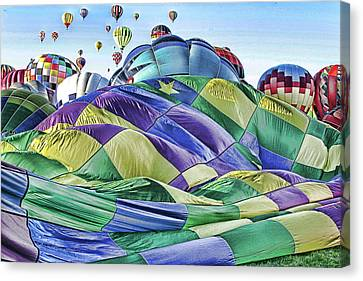 Canvas Print featuring the photograph Ballooning Waves by Marie Leslie