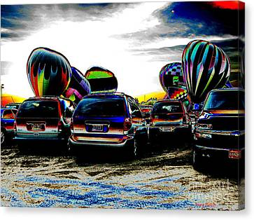 Canvas Print featuring the photograph Balloons by Greg Patzer