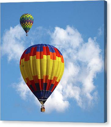 Canvas Print featuring the photograph Balloons In The Cloud by Marie Leslie