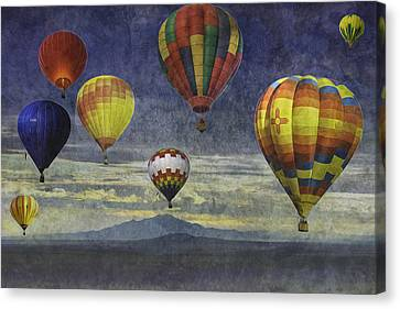 Balloons Over Sister Mountains Canvas Print