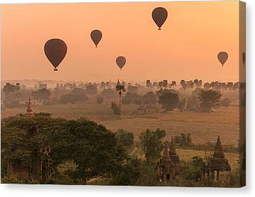 Balloons Sky Canvas Print by Marji Lang