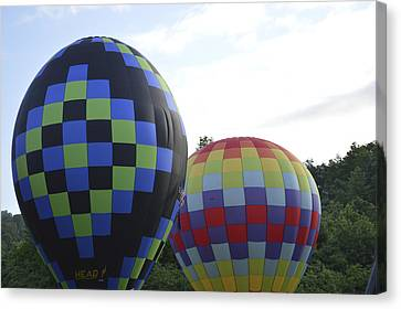 Balloons Waiting For The Weather To Clear Canvas Print
