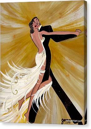 Ballroom Dance Canvas Print by Helen Gerro