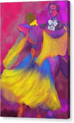 Ballroom Dancers Canvas Print