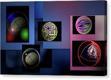 Canvas Print featuring the photograph Balls Afloat by Irma BACKELANT GALLERIES