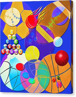 Balls - Sports, Toys And Fun Canvas Print by Steve Ohlsen
