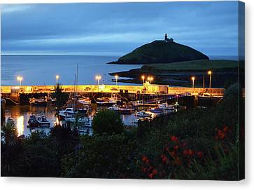 Ballycotton Ireland Marina Harbour And Lighthouse East County Cork Canvas Print