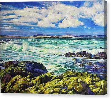 Ballyglass Lighthouse, Wild Atlantic Way Canvas Print by Conor McGuire