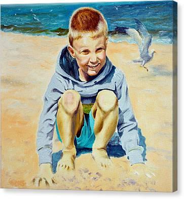 Baltic Beach Canvas Print by Henryk Gorecki