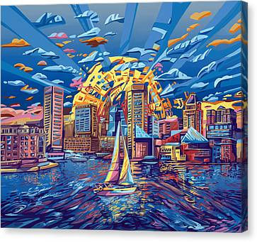 Baltimore City Skyline Canvas Print