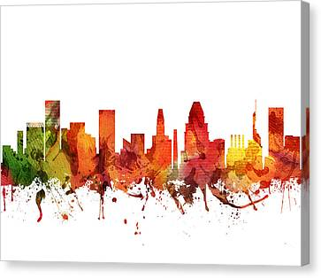Baltimore Cityscape 04 Canvas Print by Aged Pixel