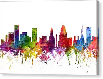 Baltimore Cityscape 06 Canvas Print by Aged Pixel