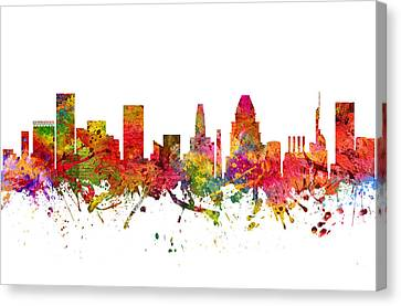 Baltimore Cityscape 08 Canvas Print by Aged Pixel