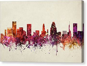 Baltimore Cityscape 09 Canvas Print by Aged Pixel