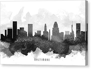 Baltimore Cityscape 11 Canvas Print by Aged Pixel