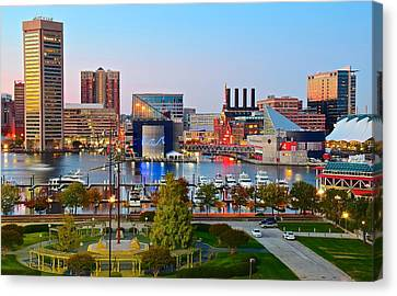 Baltimore From The Hill Canvas Print