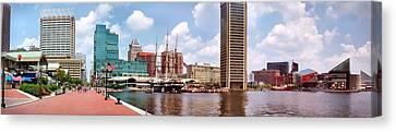 Baltimore Harbor Panorama Canvas Print