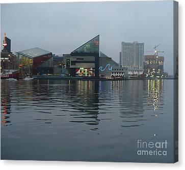 Baltimore Harbor Reflection Canvas Print by Carol Groenen