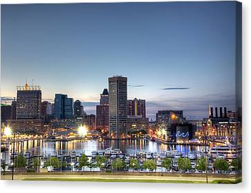 Harbour Canvas Print - Baltimore Harbor by Shawn Everhart
