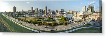 Baltimore - Inner Harbor - Pano Canvas Print by Brian Wallace