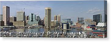 Baltimore Inner Harbor Panorama - Maryland Canvas Print by Brendan Reals