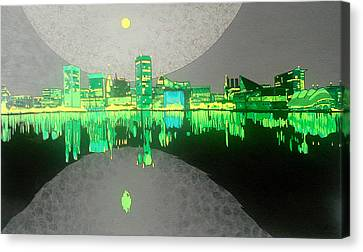 Glowing Moon Canvas Print - Baltimore by Jason Charles Allen