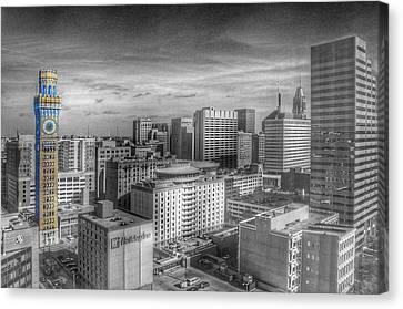 Baltimore Landscape - Bromo Seltzer Arts Tower Canvas Print by Marianna Mills