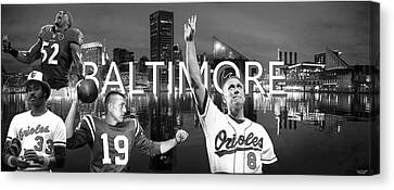 Baltimore Legends Canvas Print by Corrie Everhart