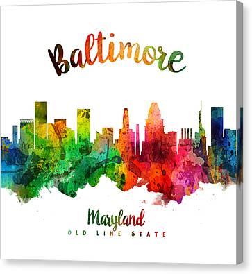 Baltimore Maryland 24 Canvas Print