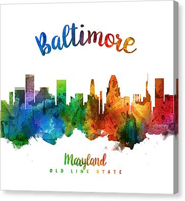 Baltimore Maryland 25 Canvas Print by Aged Pixel