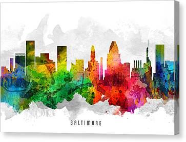 Baltimore Maryland Cityscape 12 Canvas Print