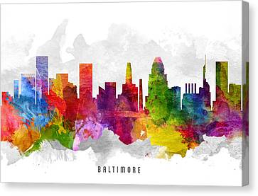 Baltimore Maryland Cityscape 13 Canvas Print